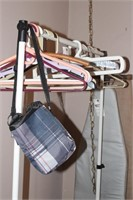 Clothing rack & hangers w/ ironing board