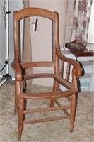 antique oak armchair frame