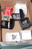 14k cross pendant, Sterling ring