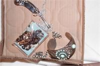 Bosons whistle, turquoise bracelet,