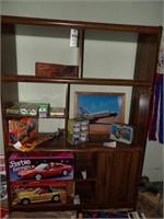 Wood Entertainment Center- 7 Shelves, 1 Door