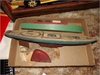 2 Wood Toy Boats