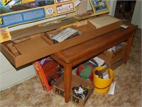 Wood Coffee Table W/ Separate Glass Top