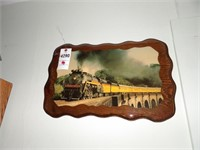 Chessie Steam Special Photo on Wood