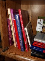 Book Assortment on 2 Shelves