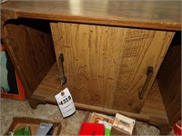 Wood record Cabinet