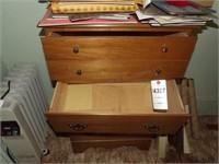Wood 4 drawer chest