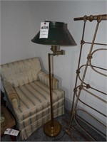 Floor Lamp, Upholstered Chair & End Table