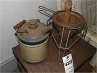 Vintage Juicer & Oil Can