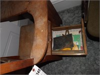 Vintage Wood School Desk W/ Side Drawer