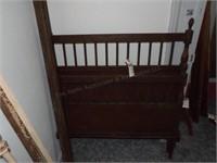 Brown Metal Twin Bedframe W/ Rails