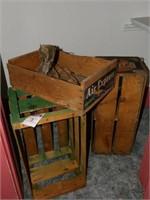 3 Wood Advirtising Crates
