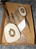 Vintage Vanity Set - Brass Handles