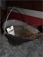 Black Coal Scuttle W/ Shovel