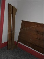 Antique Wood Headboard & Sideboards