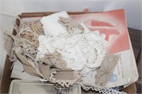 Doilies, sewing patterns, etc