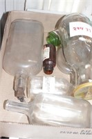 Dunn Bros Dairy bottle & carafe lot