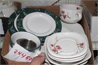 floral plates & saucers