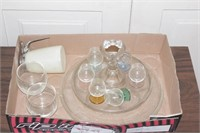 Sherry set & serving tray
