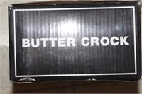 Butter crock & plates