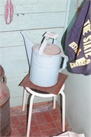 watering can & stool