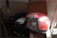 Pair of vintage bell helmets