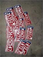 15 Michigan License Plates