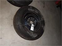 Goodyear Tire - 7.75-14 Blackwall on 5 Bolt Wheel