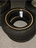 Pair of Fireston Tires - GR78-15 White wall