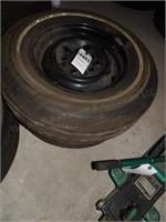 Pair of B.F.Goodrich Tires - 7.35-14 on Wheels