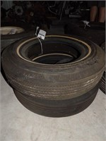 Pair of U.S. Royal Tires - 8.45-15 on Whitewalls