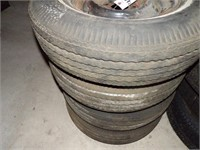 4 Firestone Tires - 8.15-15 on Wheels