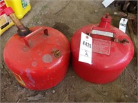 2 Metal Gas Cans - 2.5 Gal