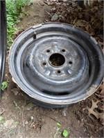 GM Donut Spare Tire W/ GM Steel Wheel