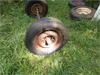 Vintage GM Straight Axle W/ Tires & Wheels