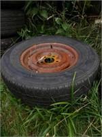 "5 Lug 15"" Wheel W/ Mounted Tire"