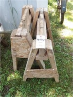 Pair of Small Wood Saw Horses