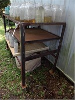 "48"" x 20"" Rolling Metal Work Table"