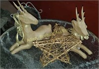 2 paper mache and Twig Christmas decor