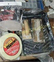Box  lot -  painting supplies, drywall tape,