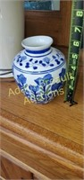 Blue and white flower porcelain 6 inch flower