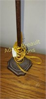 22 in decorative brushed bronze table lamp