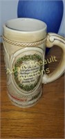 Stroh's 7.5 in collector beer stein, number