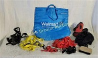 Box  lot - Walmart insulated bag, ratchet straps,