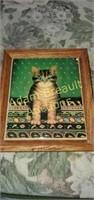 2 tile Cat wall hangings 7.5 x 6.25