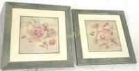 2 Blum framed wall prints, 14 X 14