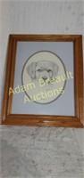 Leanne Lichtenberg 1991 Jasmine dog wall print,