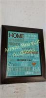 "Modern ""Home is Where..."" wall print, 18.25 x 22"