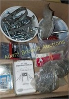 Box lot - screws, Staples, carriage bolts