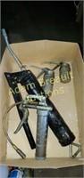 Box  lot -  assorted grease guns